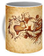 Sleeping Angel Original Coffee Painting Coffee Mug