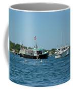 Sleepy Boats At Chatham - Cape Cod  Ma Coffee Mug