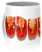 Sliced Red Peppers Coffee Mug