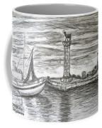 Small Boats At Rhodes Port Coffee Mug