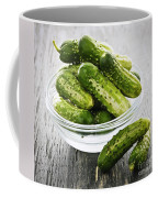 Small Cucumbers In Bowl Coffee Mug by Elena Elisseeva