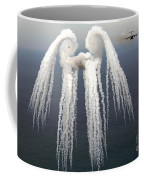Smoke Angel Created By Wingtip Vortices Coffee Mug by Photo Researchers