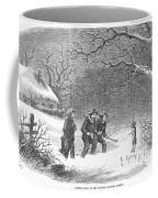 Snaring Rabbits, 1867 Coffee Mug
