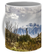 Snow Atop The Superstitions Coffee Mug