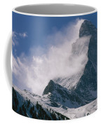 Snow Blows Off Of The Matterhorn Coffee Mug