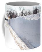Snow By The Roadside Coffee Mug by Ted Kinsman