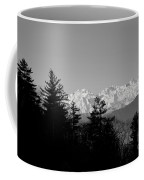 Snow-capped Mountain And Trees Coffee Mug