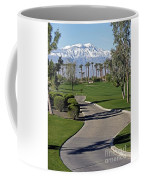 Snow Capped Mountains In The Desert Coffee Mug