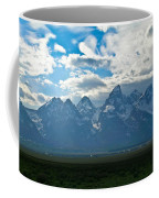 Snow Capped Teton Mountains Coffee Mug