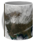 Snow Cover Stretching From Northeastern Coffee Mug by Stocktrek Images