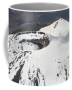 Snow-covered Ngauruhoe Cone, Mount Coffee Mug by Richard Roscoe