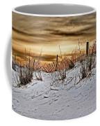 Snow Fence On Horizon Coffee Mug
