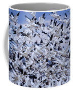 Snow Geese Chen Caerulescens Fly Coffee Mug by Ralph Lee Hopkins