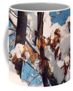 Snow On The Fall Leaves Coffee Mug