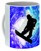 Snowboarder In Whiteout Coffee Mug