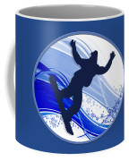 Snowboarding And Snowflakes Coffee Mug