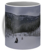 Snowmobilers In Yellowstone National Coffee Mug by Raymond Gehman