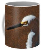 Snowy Egret Profile Painterly Coffee Mug