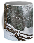 Snowy Fence Coffee Mug
