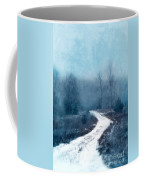 Snowy Foggy Rural Path Coffee Mug
