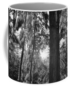 Snowy Forest Bw Coffee Mug