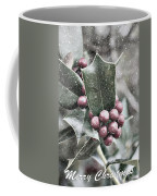 Snowy Holly Christmas Card Coffee Mug