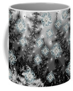 Snowy Night I Fractal Coffee Mug by Betsy Knapp