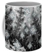 Snowy Night I Fractal Coffee Mug