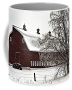 Snowy Red Barn Coffee Mug