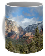 Snowy Sedona Afternoon Coffee Mug