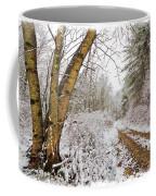 Snowy Watercolor Coffee Mug by Debra and Dave Vanderlaan