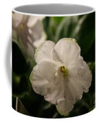 Snowy White Violet Coffee Mug