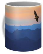 Soaring Red Tailed Hawk At Sunset Coffee Mug