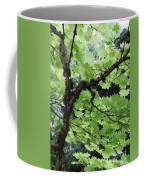 Soft Green Leaves Coffee Mug