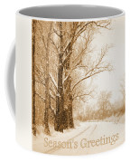 Soft Sepia Season's Greetings Coffee Mug
