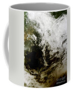 Solar Eclipse Over Southeast Asia Coffee Mug by Stocktrek Images