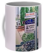 Sold Sketchbook Project Down My Street Coffee Mug by Irina Sztukowski
