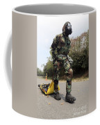 Soldier Drags A Simulated Attack Victim Coffee Mug