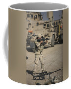 Soldier Fires A M4 Carbine Coffee Mug