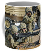 Soldier Firing A M240b Machine Gun Coffee Mug