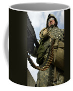 Soldier Mans A Vehicle Mounted 7.62 Mm Coffee Mug by Stocktrek Images
