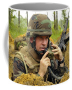 Soldier Using A Ta-1 Sound Powered Coffee Mug