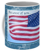 Soldier Veteran Thank You Coffee Mug