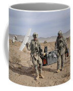 Soldiers Carry An Rq-11 Raven Unmanned Coffee Mug