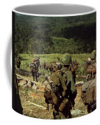 Soldiers Descend The Side Of Hill 742 Coffee Mug