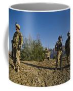 Soldiers Discuss A Strategic Plan Coffee Mug