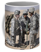 Soldiers Discuss A Strategic Plane Coffee Mug