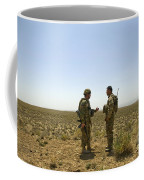 Soldiers Discuss, Drop Zone Coffee Mug
