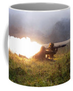 Soldiers Fire A Rocket Propelled Coffee Mug