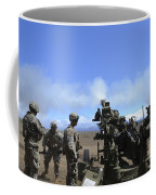Soldiers Firing The M777 Howitzer Coffee Mug